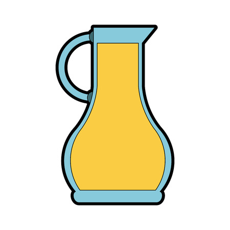 Olive oil jar vector illustration graphic design