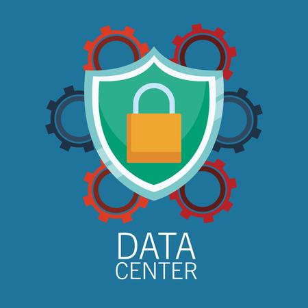 Datacenter servers technology vector illustration graphic design Illustration