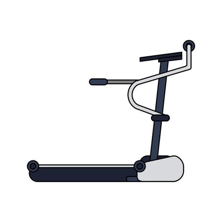 Walking machine gym equipment vector illustration graphic design