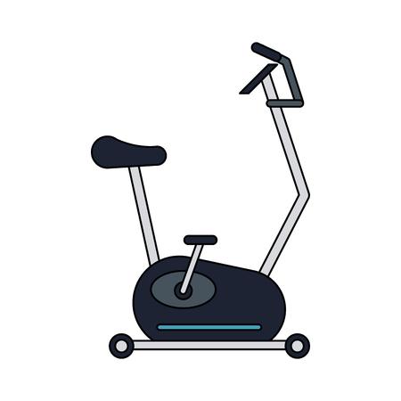 Spinning gym equipment vector illustration graphic design