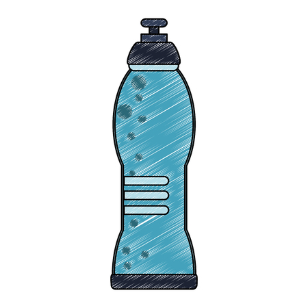Water thermo bottle vector illustration graphic design Vettoriali