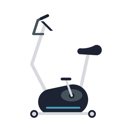 Spinning gym equipment vector illustration graphic design