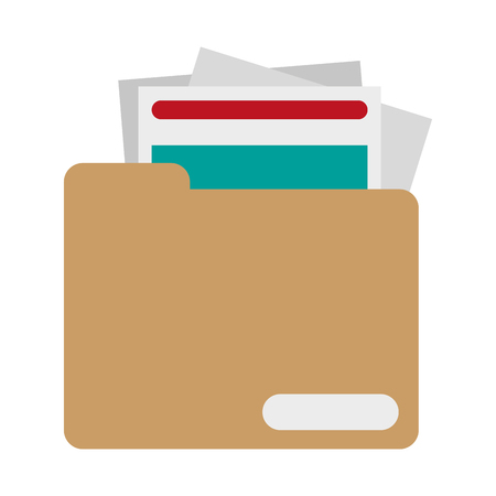 Folder with files symbol vector illustration graphic design Ilustração