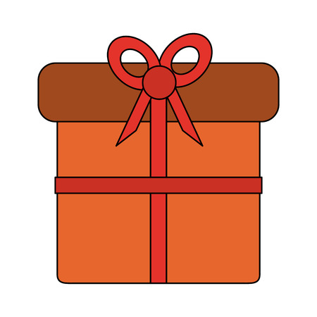 Gift box symbol vector illustration graphic design Vectores