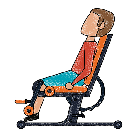 Gym bench equipment vector illustration graphic design