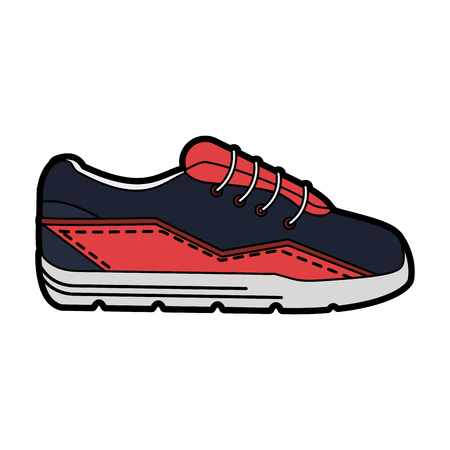 Sport shoe isolated vector illustration graphic design