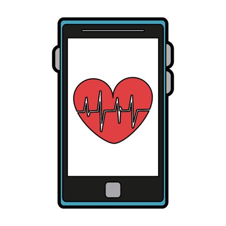 Fitness smartphone application vector illustration graphic design