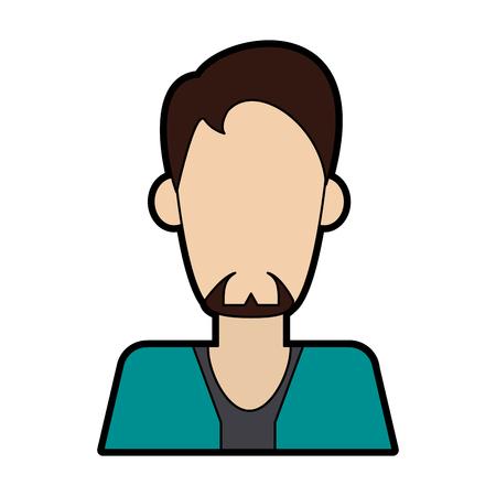 Man faceless avatar vector illustration graphic design Vettoriali