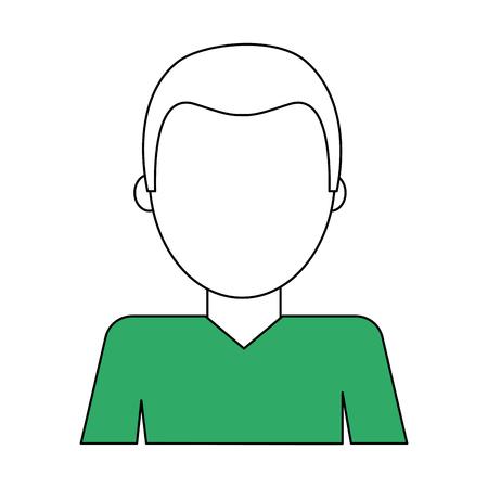 Man faceless avatar vector illustration graphic design Vectores
