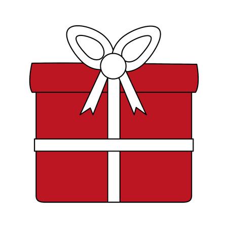 Gift box symbol vector illustration graphic design Vettoriali