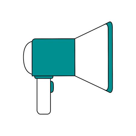 Bullhorn advertising symbol vector illustration graphic design
