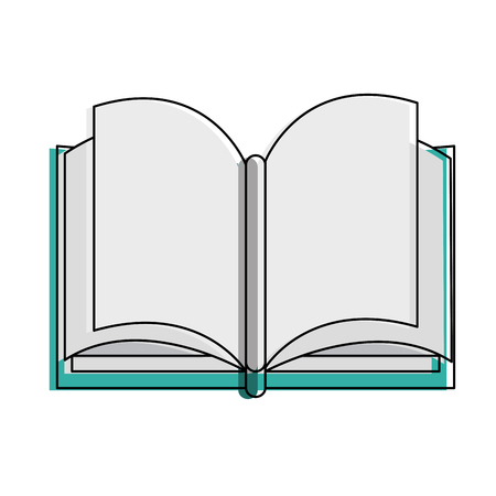 Book open symbol vector illustration graphic design. Stock Illustratie
