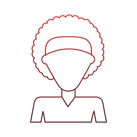 Woman faceless profile vector illustration graphic design