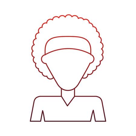 Mujer sin rostro perfil ilustración vectorial diseño gráfico Foto de archivo - 97013992