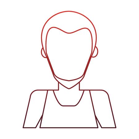 Man faceless avatar vector illustration graphic design Illustration