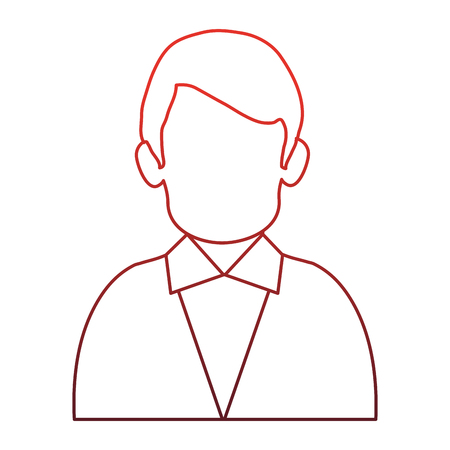 Businessman faceles profile vector illustration graphic design