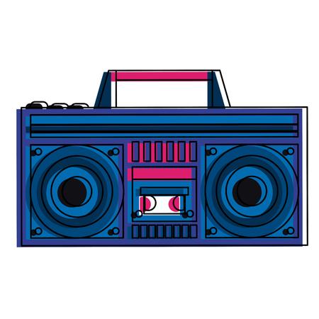 Retro radio stereo vector illustration graphic design.
