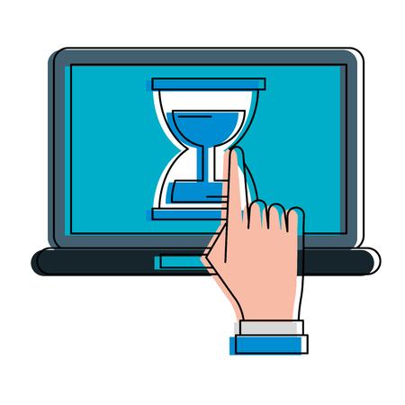 Laptop computer technology vector illustration graphic design