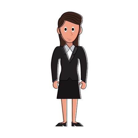 Business woman cartoon vector illustration graphic design Çizim