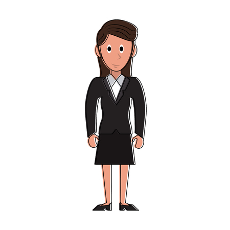 Business woman cartoon vector illustration graphic design Illustration