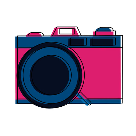 Photographic camera symbol vector illustration graphic design Vectores