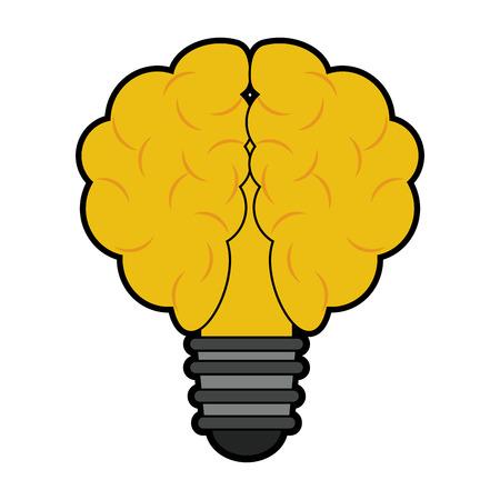 Bulb and idea symbol vector illustration graphic design