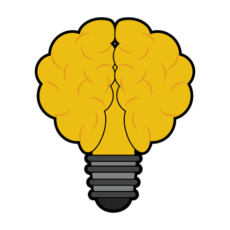 Bulb and idea symbol vector illustration graphic design