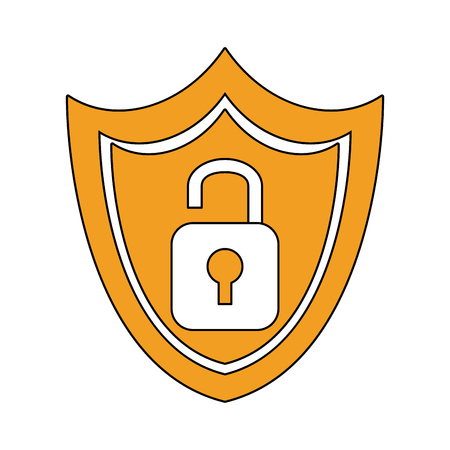 Shield security symbol vector illustration graphic design