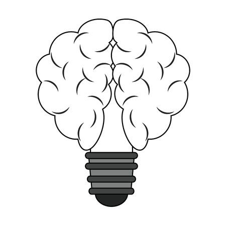Bulb and idea symbol vector illustration graphic design.
