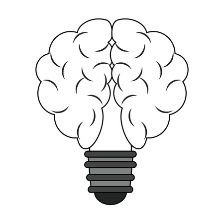 Bulb and idea symbol vector illustration graphic design.