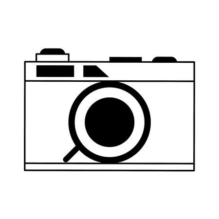 Photographic camera symbol vector illustration graphic design Illustration