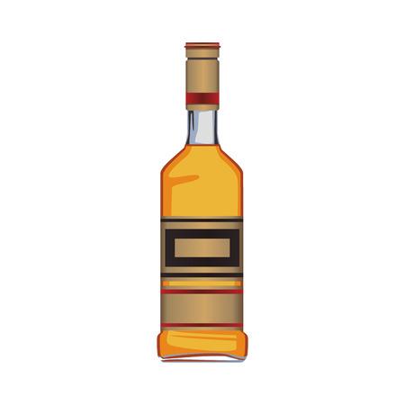 Botella de tequila aislado ilustración vectorial diseño gráfico Foto de archivo - 97049812