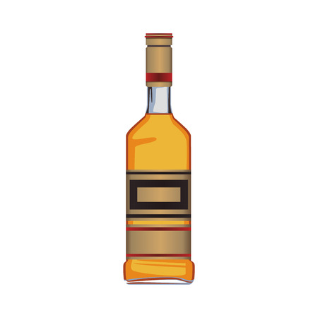 Tequila bottle isolated vector illustration graphic design 向量圖像