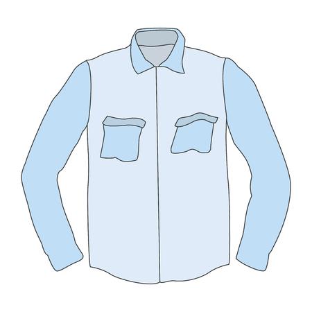 Wrinkled male shirt vector illustration graphic design