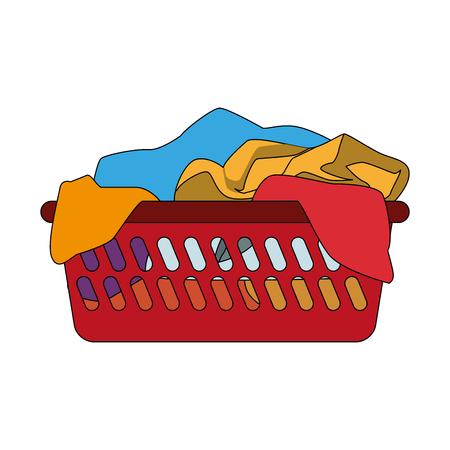 Clothes in basket vector illustration graphic design Illustration