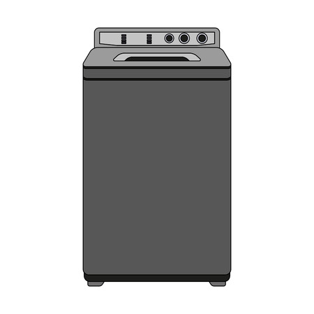 Washer laundry machine vector illustration graphic design