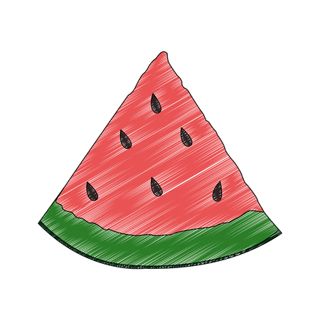 Watermelon fruit isolated vector illustration graphic design Illustration