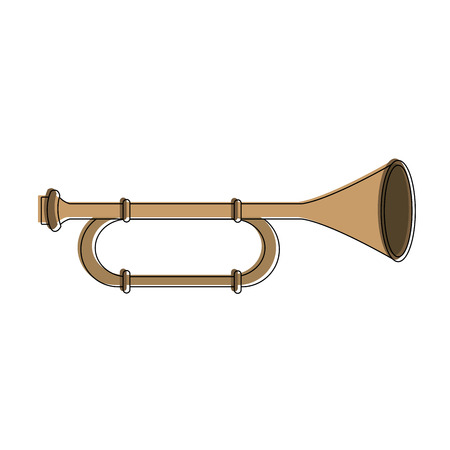 Trombone music instrument vector illustration graphic design