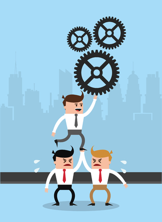 Businessmens working in the city vector illustration graphic design