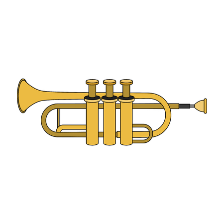 Trumpet music instrument vector illustration graphic design Illustration