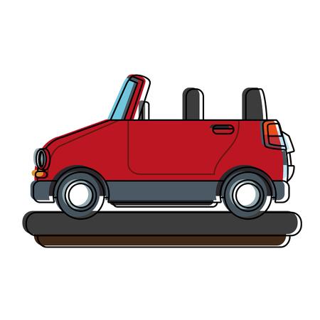 Funny small car cartoon vector illustration graphic design Stock Illustratie