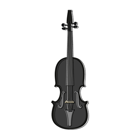 Violin music instrument vector illustration graphic design  イラスト・ベクター素材