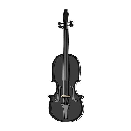 Violin music instrument vector illustration graphic design Stock Illustratie