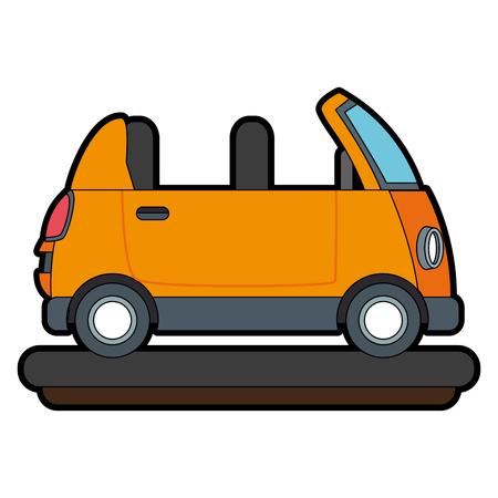 Funny small car cartoon vector illustration graphic design Vettoriali