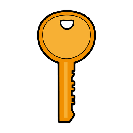 Door key isolated vector illustration graphic design Illustration
