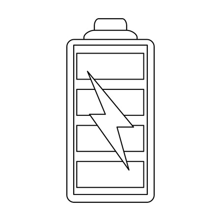 Rechargeable battery symbol vector illustration graphic design Çizim