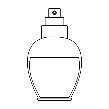 Fragrance cosmetic bottle vector illustration graphic design