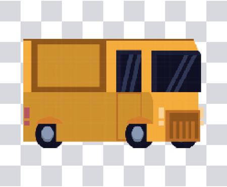Truck pixelated isolated vector illustration graphic design Ilustração