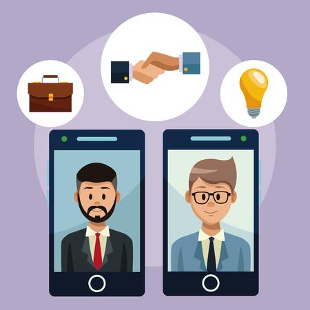 Social network for business vector illustration graphic design Banco de Imagens - 97361176