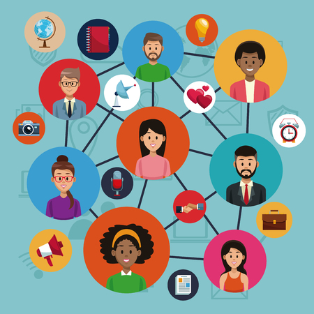 Social media and networking vector illustration graphic design